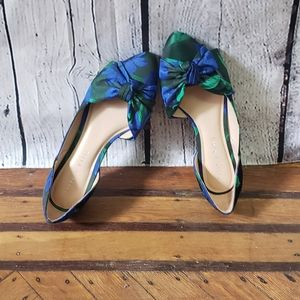 Katie and Katie Floral Pointed Flat